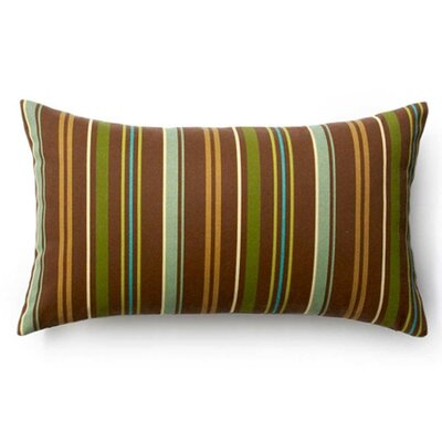 Jiti Pillows Thin Vertical Stripes Outdoor Decorative Pillow in Brown