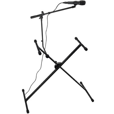 Ashley Entertainment Corporation Keyboard Stand with Bonus Microphone Boom
