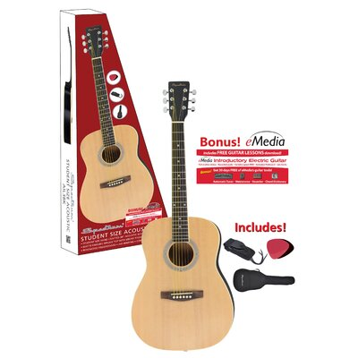 Ashley Entertainment Corporation Spectrum Hand Crafted Acoustic Guitar with Adjustable Truss Rod