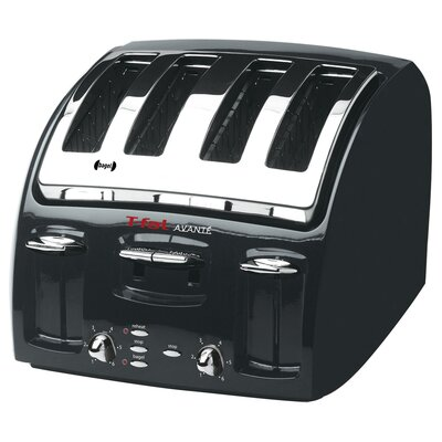 T-fal Avante 4 Slice Toaster in Black