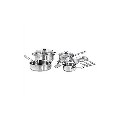 Wearever 3-Ply Stainless Steel 10-Piece Cookware Set