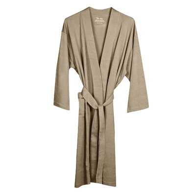 Pure Fiber Organic Combed Cotton Knitted Bathrobe