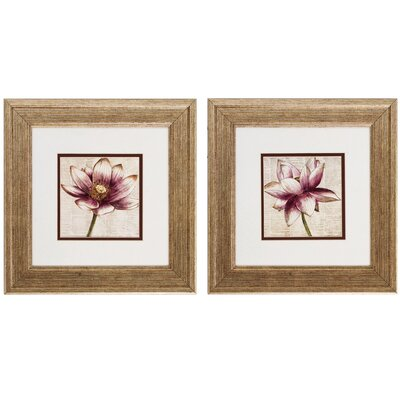 Defined Lotus 2 Piece Framed Graphic Art Set