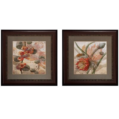 Botanicals 2 Piece Framed Graphic Art Set