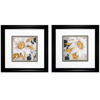 Floral 2 Piece Framed Graphic Art Set