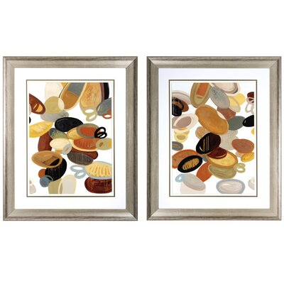 Organic Study 2 Piece Framed Graphic Art Set