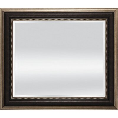 Dark Tan Beveled Mirror - 26