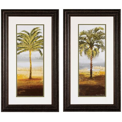 Beach Palm I / II Framed Art (Set of 2)