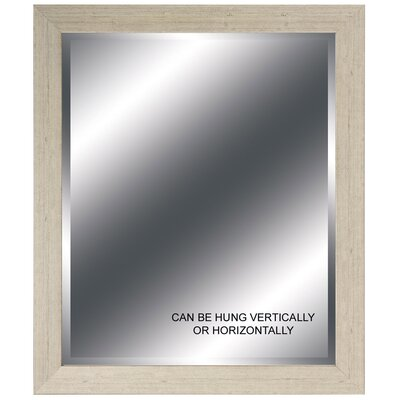 Cream Beveled Mirror - 24
