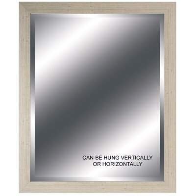 Cream Beveled Mirror - 28