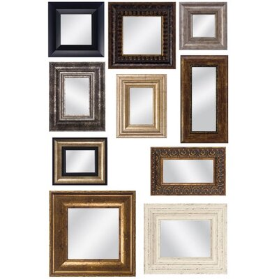 Propac Images Set of 10 Mirror Assortment with Frames