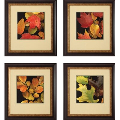 Vivid Leaves by Unknown Artist Photography Art Set