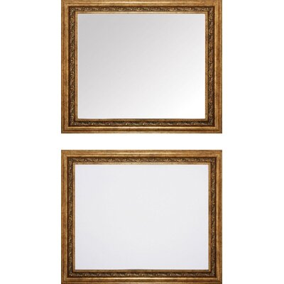 Gold Beveled Mirror Set