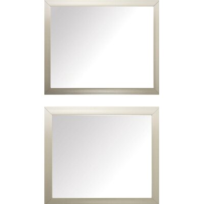 Cream Beveled Mirror Set