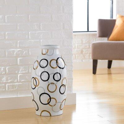 PoliVaz Modern Circles Round Decorative Vase