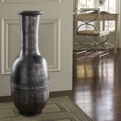 polivaz flare round floor vase reviews wayfair. Black Bedroom Furniture Sets. Home Design Ideas