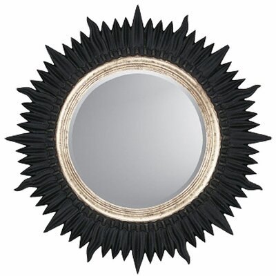 Black / Silver Starburst Contemporary Wall Mirror