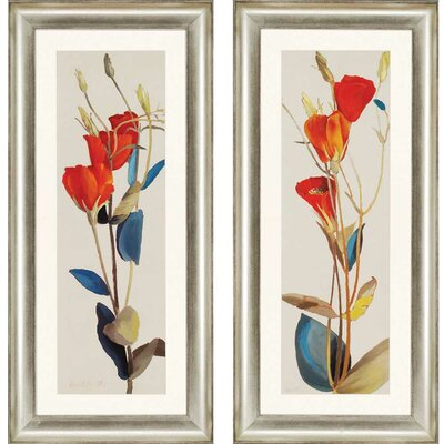 Grandiflorum by Loreth 2 Piece Framed Graphic Art Set
