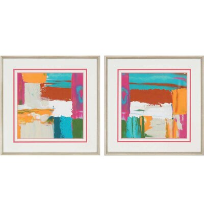 Neon City II by Goldberge 2 Piece Framed Painting Print Set