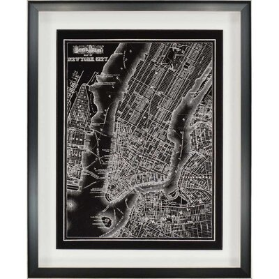 New York City, 1895 Framed Graphic Art Shadow Box