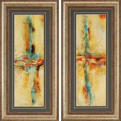 Equilibrio by Santos 2 Piece Framed Graphic Art Set