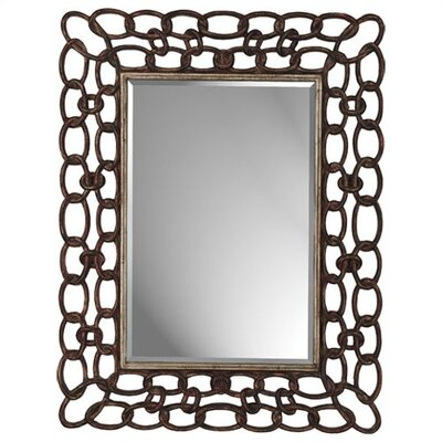 Mottled Copper Links Rectangle Mirror