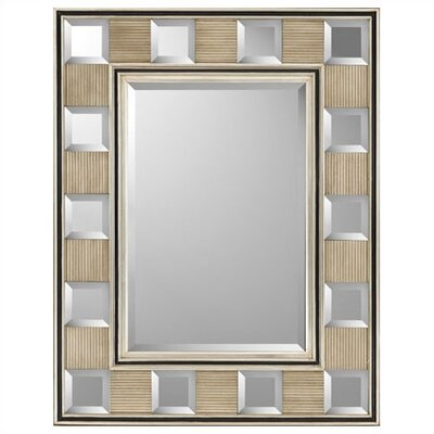 Rectangle Silver Block Contemporary Mirror