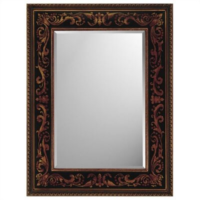 Rectangle Black and Gold Medieval Mirror