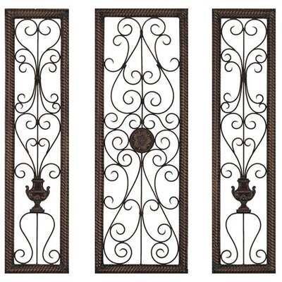 Paragon Rusty Vine Metal Art (Set of 3)