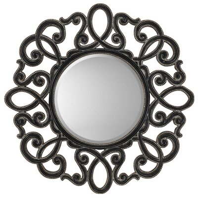 Round Silver / Black Traditional Wall Mirror