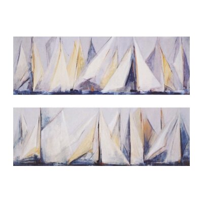 "Paragon First Sail by Torres Waterfront Art - 12"" x 36"" (Set of 2)"
