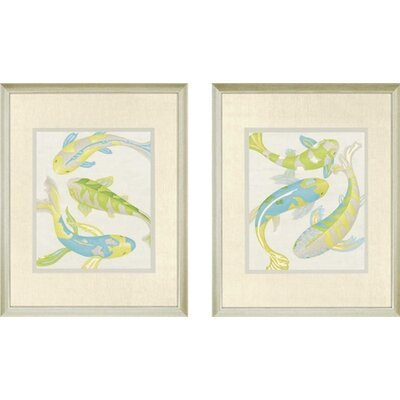 Jade Koi by Zarris Framed 2 Piece Painting Print