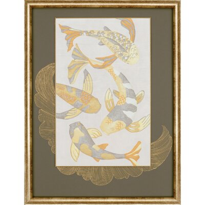 "Paragon Golden Koi II by Zarris Contemporary Art - 39"" x 30"""