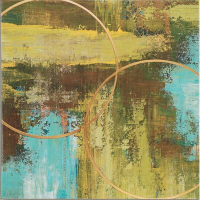 "Paragon Aller Chartreuse by St. Germain Contemporary Art - 32"" x 32"""