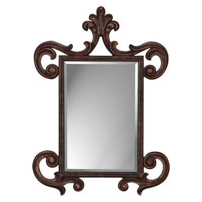 Paragon French Aged Wood Finish Rectangle Mirror