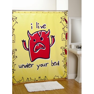 David & Goliath Monsters Cotton Shower Curtain