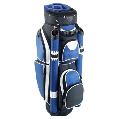 Hunter Golf Storm Cart Bag in Black / Royal / White