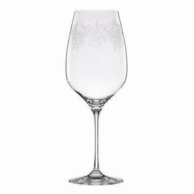 Paisley Bloom Crystal Goblet