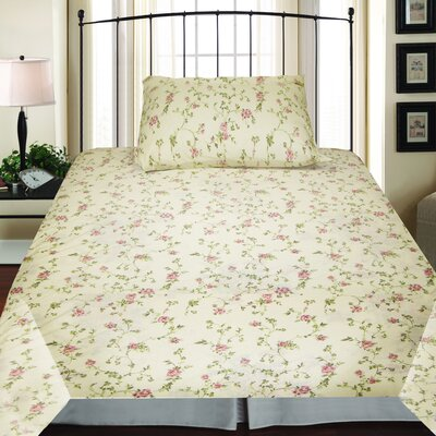 Textiles Plus Inc. Jersey Sheet Set in Spring Tanya | Wayfair