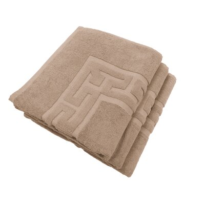 Textiles Plus Inc. 3-Piece Tub Mat Set in Linen
