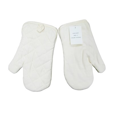 Quilted Oven Mitt in Natural (Set of 2)