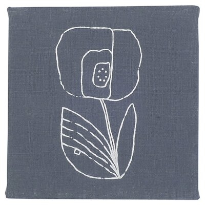Small Mac Flower Textile Painting Print on Canvas