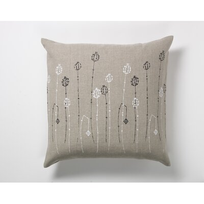 threesheets2thewind Poppy Pods Pillow in Black and White
