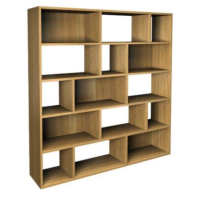 alpenhome betria contemporary asymmetric bookcase