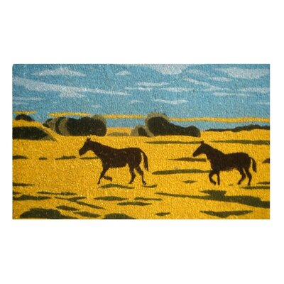 Imports Decor Silhouetted Horses Doormat