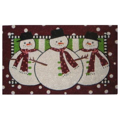 Three Snow Men Doormat