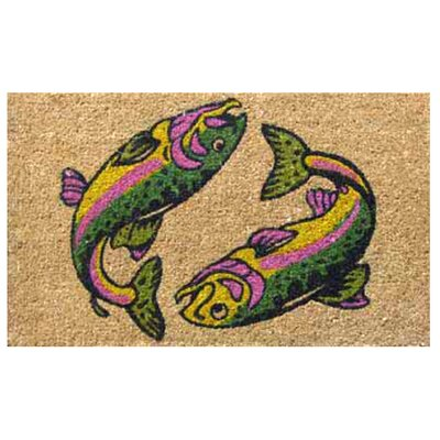Imports Decor Two Fish Doormat