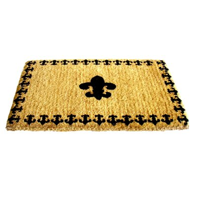 Imports Decor Fleur Delis with Border Doormat