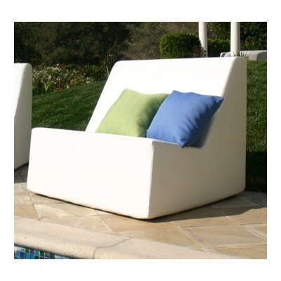 La-Fete Check Armless Lounge Chair