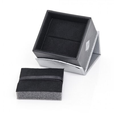Cufflinks Inc. Sterling Silver Onyx Plaid Etched Cufflinks